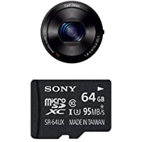 Sony DSC-QX100 Smartphone Attachable Lens-style Camera with Memory Card