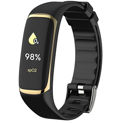 Fitness Tracker, HRV / SpO2 / Heart Rate/Blood Oxygen/Sleep Tracker, Health Watch for Adult and Parents, Gold