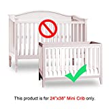 Mini Crib Bumper Pads for Portable Mini Cribs