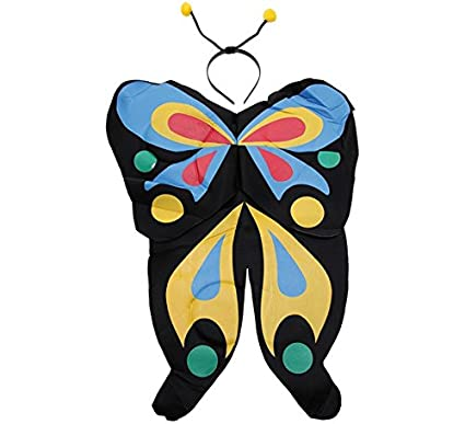 EuroCarnavales Kit de Papillon Noire: Ailes et diadème