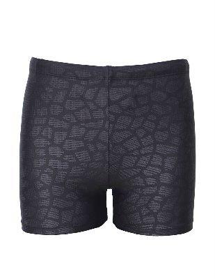 EASEA Men`s Quick Dry Compression Square Leg Swimsuit Black Prints 2X-Large