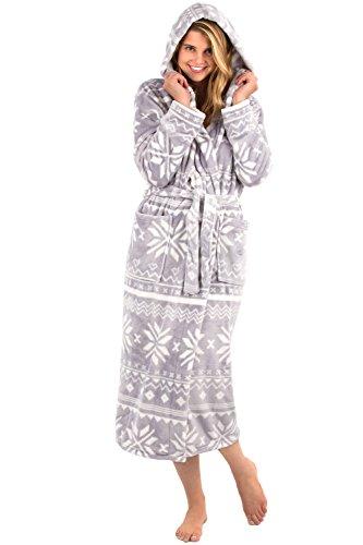 adef340370 VEAMI Women s Aspen Fleece Robe with Hood