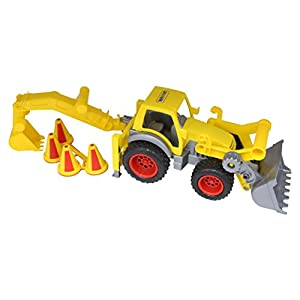 Wader Quality Toys Construction Front Loader & Backhoe