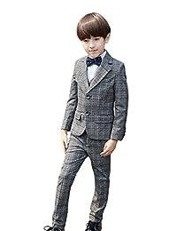 SK Studio Boys' 5-Piece Dress Classic Fit Formal Modern Suit Set