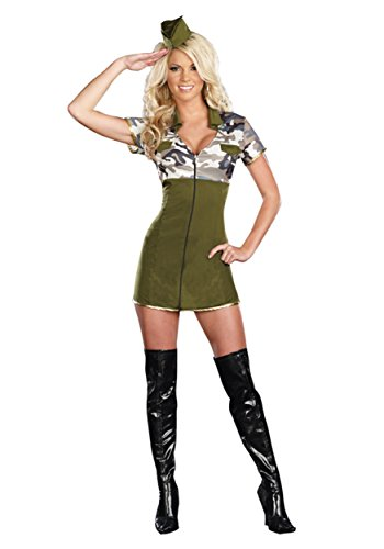 Womens General Army Costume (General Lee Hot Adult Costume -)