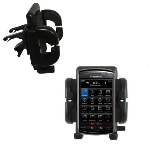 Innovative Vent Cradle Vehicle Mount designed for the Blackberry Storm 2 - Adjustable Vent Clip Holder for Most Car / Auto Vent ()