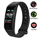 Pulsera Reloj Inteligente Smarwatch deportivo Bluetooth Multifuncional Smart watch Rastreador de fitness IP67 Impermeable para Hombres, Mujeres(Negro)