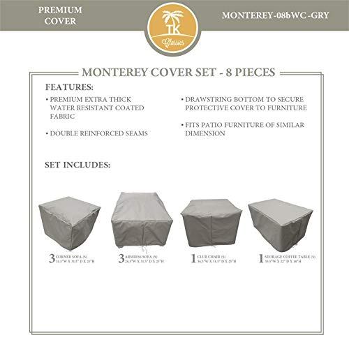 TK Classics MONTEREY-08b Protective Cover Set in Gray