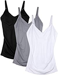 Womens Maternity Nursing Tank Cami for Breastfeeding with Adjustable Straps