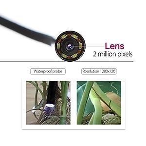 Crenova iScope 2 in 1 Endoscope 2.0 Megapixel CMOS HD USB Endoscope Waterproof Handheld Borescope Digital Inspection Camera Snake Camera - 4M