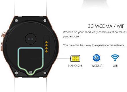 Efanr KW88 Round Bluetooth Smart Watch Unlocked Android 5.1 Wrist Phone Nano SIM 3G WiFi 2.0MP Camera Touchscreen Smartwatch Call Heart Rate Monitor ...