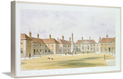 (Imagekind Wall Art Print Entitled View of Charles Hopton's Alms Houses, 1852 by The Fine Art Masters | 10 x 5)