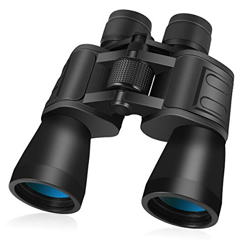Binoculars for Adults,10x50 High Power HD Binoculars for Birds Watching,Hunting,Concert,Sports Events,Hiking,Traveling,Sightseeing,Kids Binocular Compact,Wide Angle Lens 10X Magnification,1.6 ()