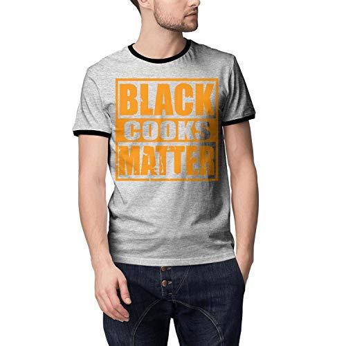 9bcc2dbf99 WJINX Black Cooks Matter Printed Mens Classic Short Sleeve Summer Top  T-Shirts