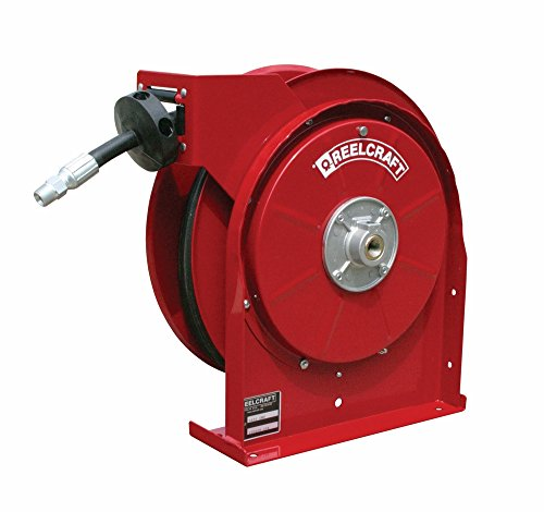 Reelcraft 5620-OMP 3/8'' x 20' Spring Retractable Hose Reel, 2600 PSI w/ Hose by Reelcraft