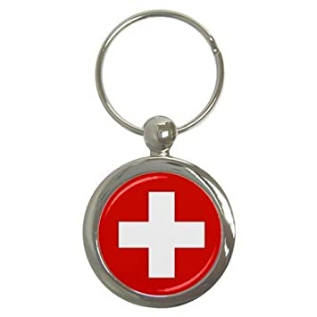 Amazon.com: Round key Cadena de bandera de Suiza: Automotive