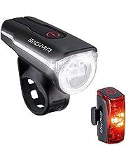SIGMA SPORT - Led-fietsverlichtingsset Aura 60 en Infinity | StVZO goedgekeurd, op batterijen aangedreven koplicht en achterlicht