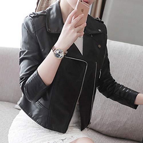 Mode Courte et Rose Veste Robe M Noire SED Printemps Femme Manteau Noir Nouveau Revers Automne dUXEwqqFav