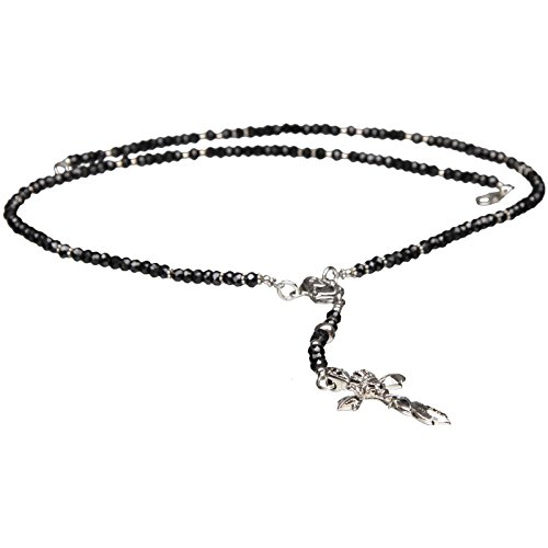 Bouddha to Light Collier chapelet Skull Cross Onyx + Argent Sterling eie 299eur