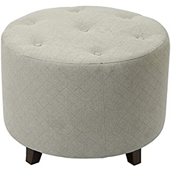 Amazon Com Adeco Ft0273 1 Round Fabric Foot Rest And