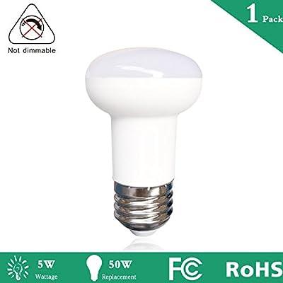 Non Dimmable 5Watt R16 LED Bulb,50 Watt Halogen Light Bulb Equivalent,E26 Base Edison LED Bulb 2700k Warm White LED Lamps,120V 500Lumens Appliance Light Bulb for Home Lighting Decorative