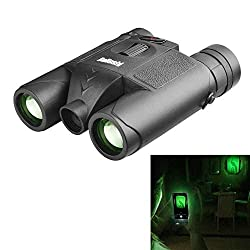 beileshi 10X Binocular Telescope Laser Radiation Night Vision for Adults Bird Watching Travel Stargazing Hunting Concerts Sports-BAK4 Prism FMC Lens-with Carrying Case