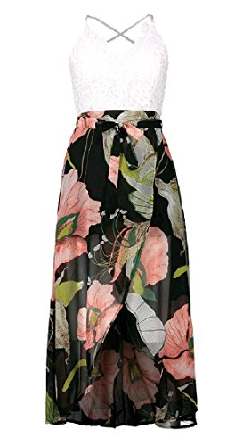 Stampa Da Pizzo Maxi Backless Chiffon Pattern2 Coolred Dividere Spiaggia Lungo donne Abito Abbigliamento tRYHqcw