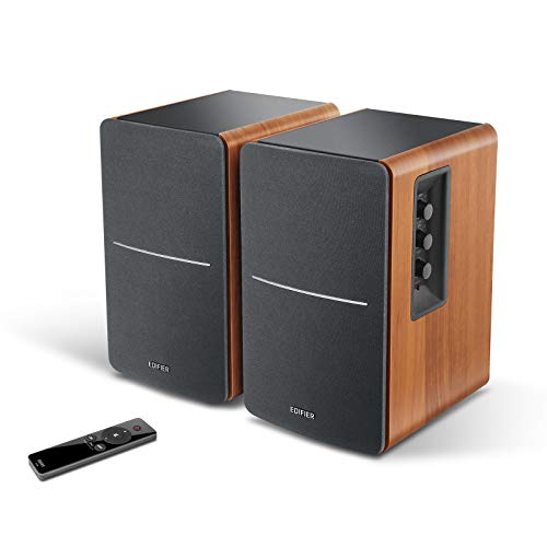 Edifier R1280Ts Powered Bookshelf Speakers - 2.0 Stereo Active Near Field Monitors - Studio Monitor Speaker - 42 Watts RMS with Subwoofer Line Out - Wooden Enclosure