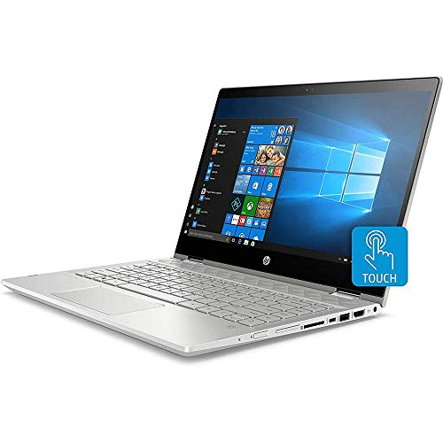 "HP Pavilion x360 Touchscreen 2 in 1 Lpatop, 14"" IPS Full HD PC, 10th Gen Core i5 Quad-Core up to 4.20 GHz, 8GB RAM, 256GB SSD, USB-C, Backlit KB, FP Reader, Wi-Fi 6, Webcam, HDMI, Win 10 (Renewed)"