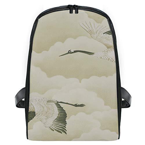 FAJRO Kids Packsack Flying Cranes On Cloudy Sky Pattern Schoolbag Kids First Grade -