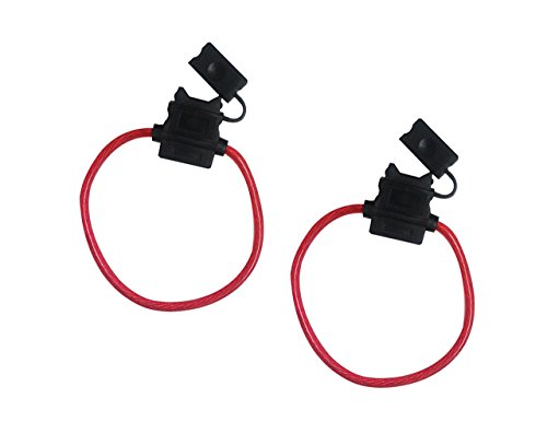 Absolute USA ATCFH8-2 Pair In-Line ATC Water-Resistant Fuse Holder 8 AWG