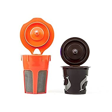 Morning Wood Coffee: K Carafe Reusable Filter and Reusable K Cup Filter Combo Pack: Compatible with all K Cup & K Carafe Brewers including Keurig 2.0. Keurig Accessories for Your Keurig Coffee Maker.