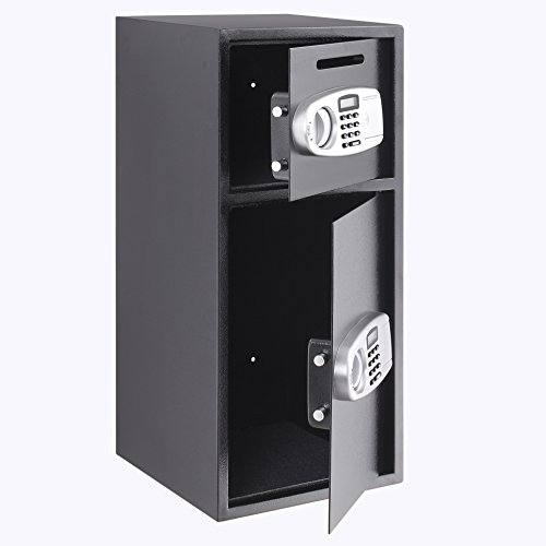 OrangeA Depository Safe Double Door Digital Depository Drop Safe with Drop Slot Safe Cash Drop Box for Home and Office Security by OrangeA (Image #2)