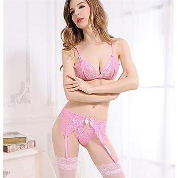 Krassu - Sexy Lingerie for Sex Underwear Women 4Pcs Set Lace Open Bra +  Thong f4d44fa3e