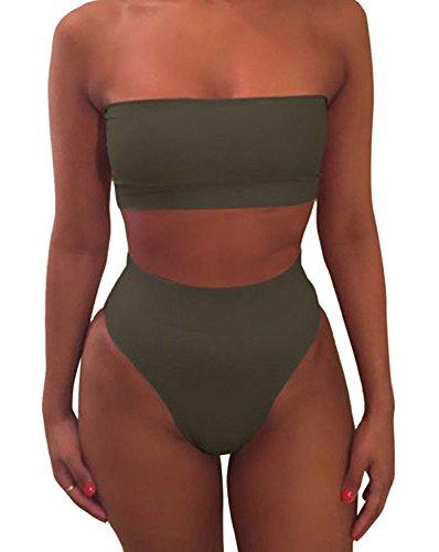 Liqy - Conjunto - para mujer verde verde S