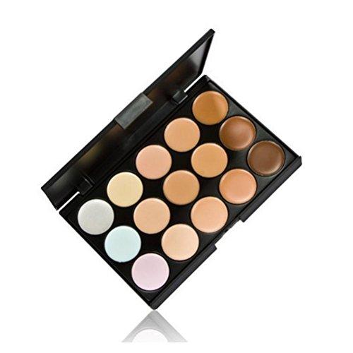 Fashion&Online 15 Colors Contour Face Cream Makeup Concealer Palette + Powder Brush