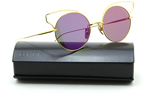 Dita BELIEVER Women Titanuim Sunglasses Yellow Gold 23008-A, - Sunglasses Dita Gold