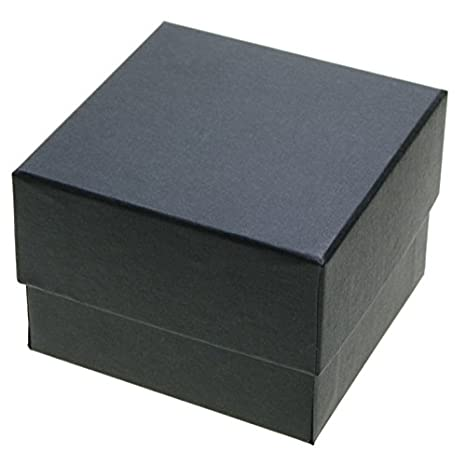 CHRISTIAN GAR Pack de 24 Estuches para relojería de cartón con Esponja. (10 x 10 x 7 cm) Color Negro: Amazon.es: Hogar