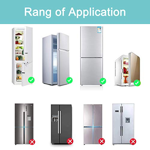 41pEbmh52iL HEOATH Upgrade Home Refrigerator Fridge Freezer Door Lock Latch Catch Toddler Kids Child Baby Safety Lock Easy to Install and Use 3M VHB Adhesive no Tools Need or Drill (Grey,2 Pack)    Product Description