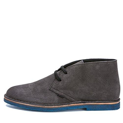 FRAU - Zapatos de cordones de cuero nobuck para hombre Gris gris