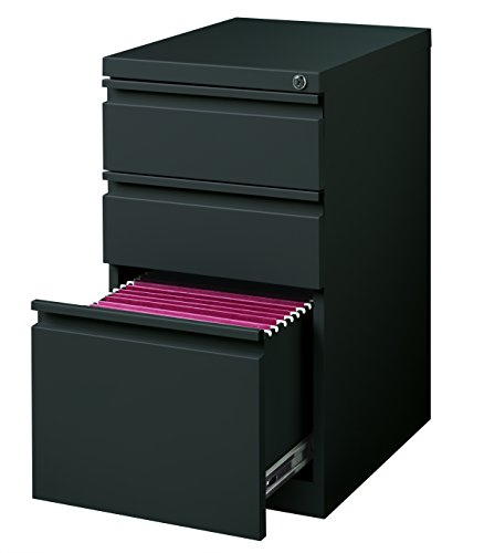 "Hirsh Industries 20"" Deep Box-Box-File Mobile Pedestal in Charcoal"