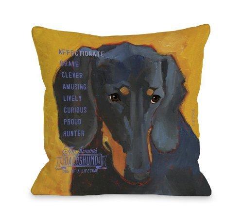 One Bella Casa Daschund 3 Throw Pillow, 26 by 26-Inch [並行輸入品] B07RCFPHDW