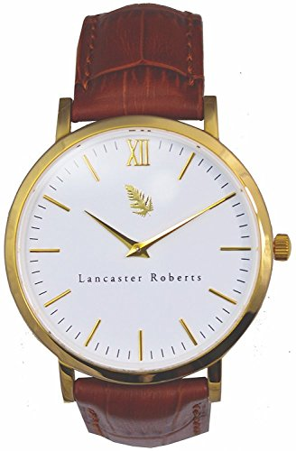 Lancaster Roberts Men's Brown Hirsch Limited Edition Leather Band Wrist - Brown Lancaster Wood