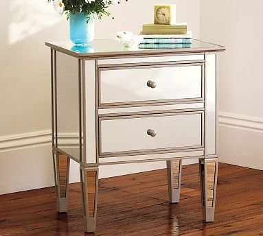 Amazoncom Pottery Barn Park Mirrored Bedside Table Home Improvement - Pottery barn mirrored bedside table