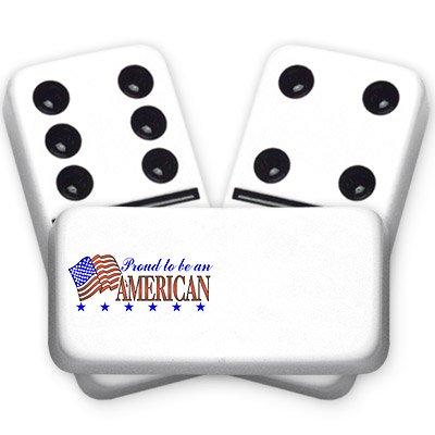 ★お求めやすく価格改定★ Proud to be American Double Series Americana Americana Series Custom Text Dominoes Double six B01I3YJX52, アサヒマチ:7e0213ea --- movellplanejado.com.br