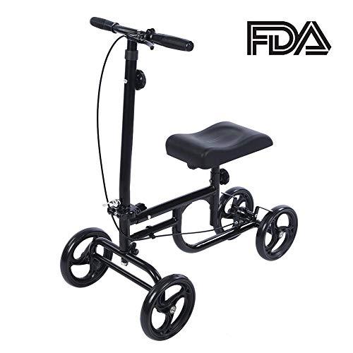 ELENKER Economy Knee Walker Steerable Medical Scooter Crutch Alternati