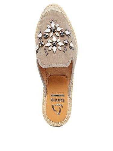 Kanna - Sandalias de vestir de Gamuza para mujer gris