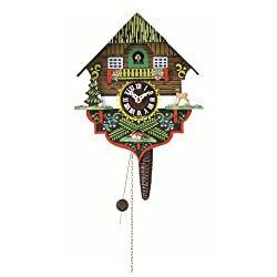 Trenkle Quarter Call Cuckoo Clock with 1-Day Movement Black Forest House TU 618