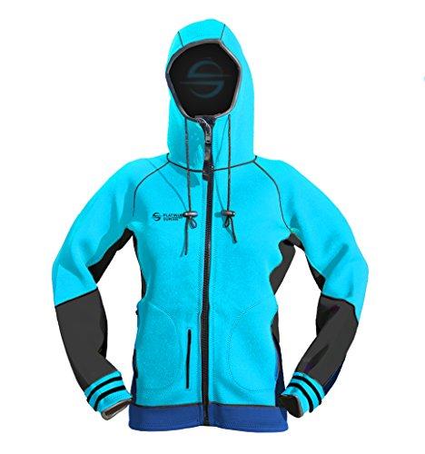Platinum Sun Unisex Neoprene Jacket Hoodie Aqua XS by Platinum Sun