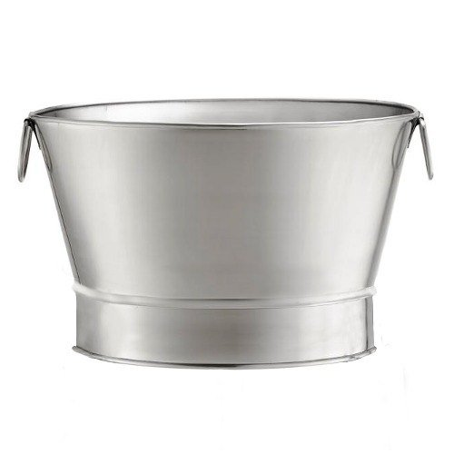 TableCraft Products BT21 Beverage Tub Stainless Steel with O Stand, 20'' x 12.25'' by Tablecraft